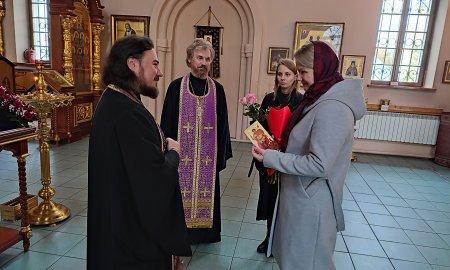 Встреча с работниками Управления образованием городского округа Истра в Георгиевском храме города Дедовск